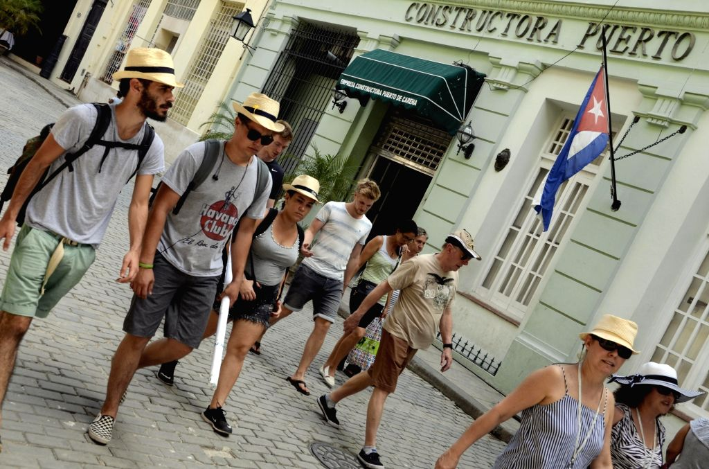 HAVANA, Sept. 11, 2018 - Tourists visit the area of Old Havana, in Havana, capital of Cuba, Sept. 7, 2018.  Cuba's tourism industry is preparing for the year-end high season.