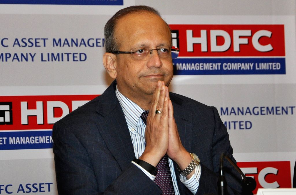 HDFC Asset Management Company (AMC) Limited MD Milind Brave at a press conference during the launch of initial public offering (IPO), in Kolkata on  July 24, 2018.