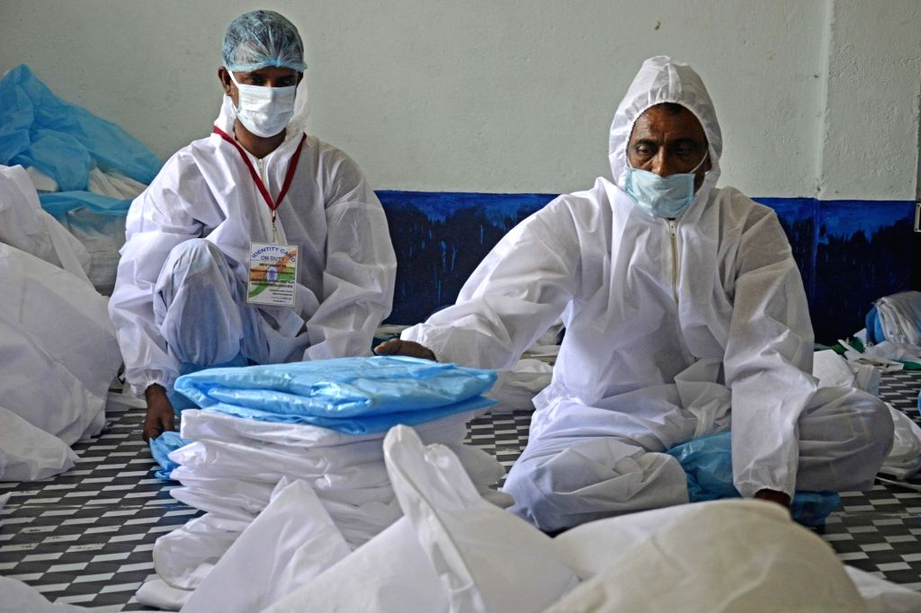 Heath experts caution against cheap hazmat suits being sold in India.