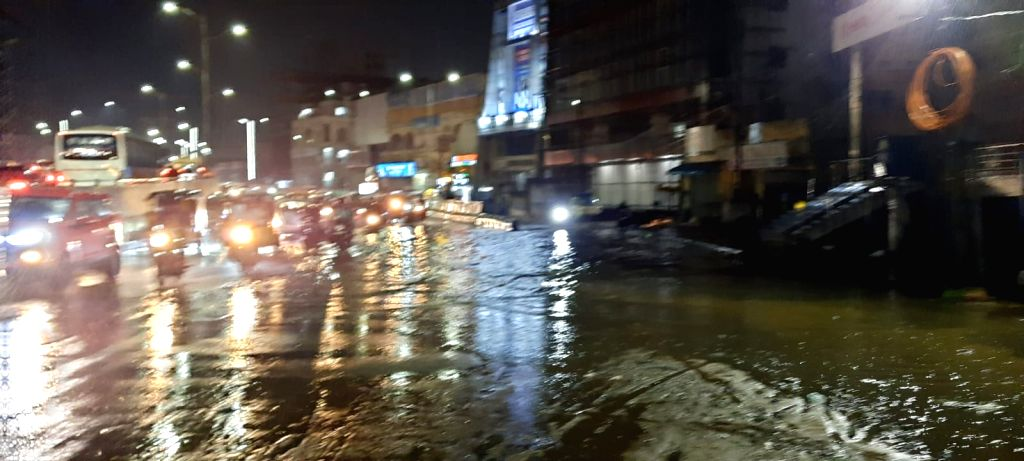 Heavey Rain in Hyderabad on Saturday, September 25, 2021.