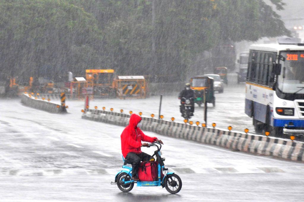 Heavy rain lashed in Bengaluru City, on Wednesday 16th June 2021