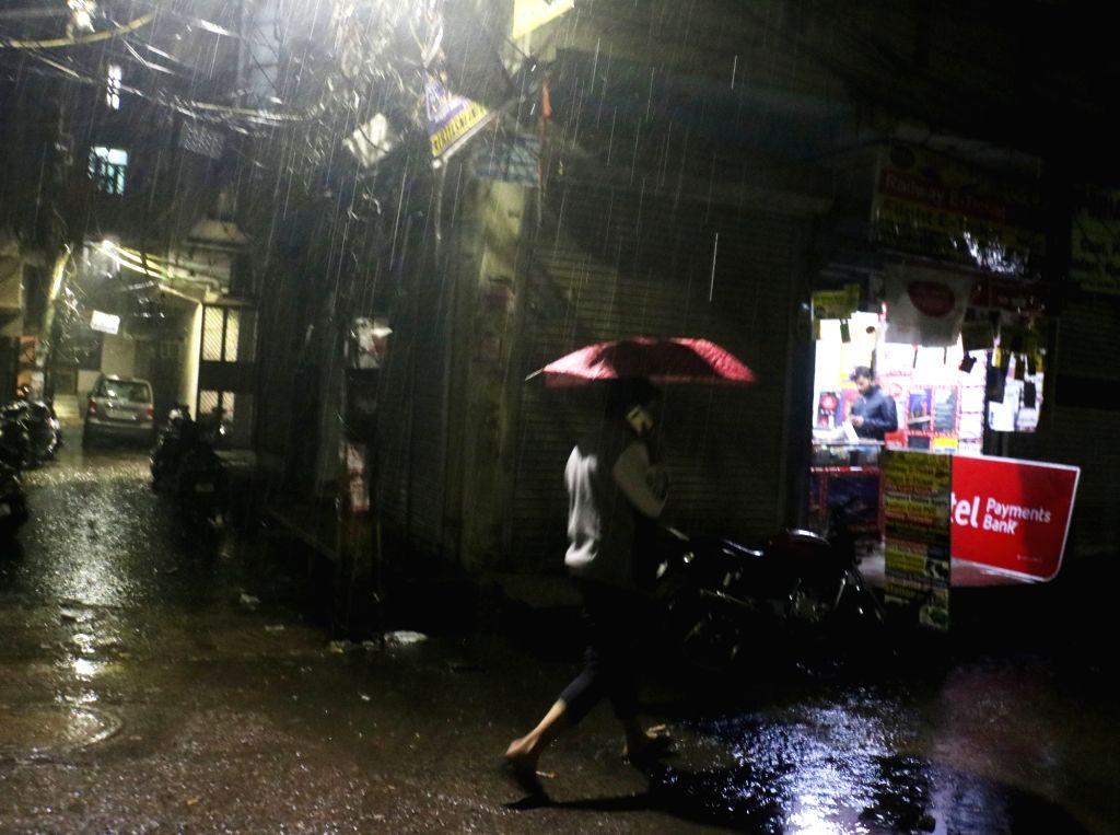 Heavy rain lashes Delhi on Dec. 12, 2019.