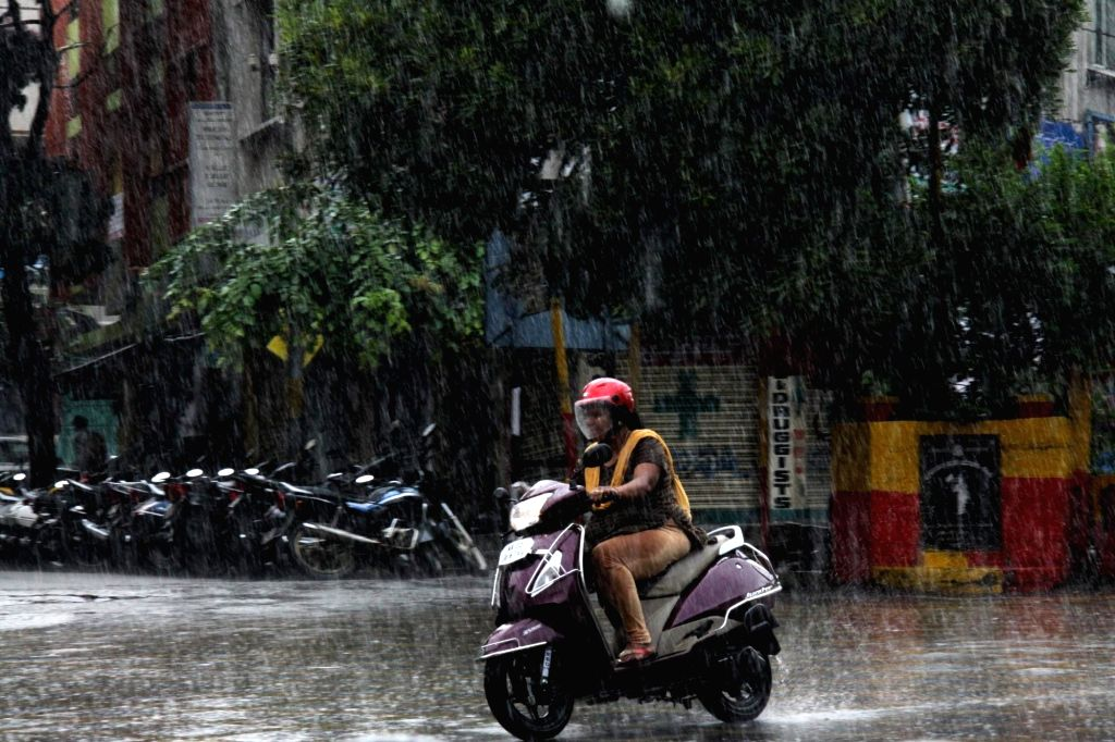Heavy rains lash Bengaluru on July 23, 2018.