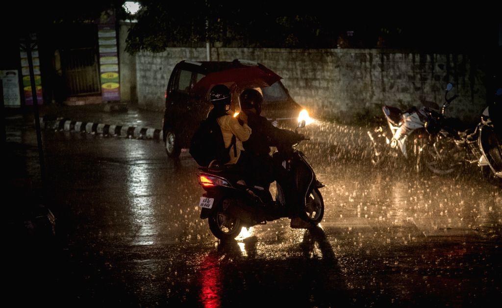 Heavy rains lash Bengaluru on May 21, 2018.