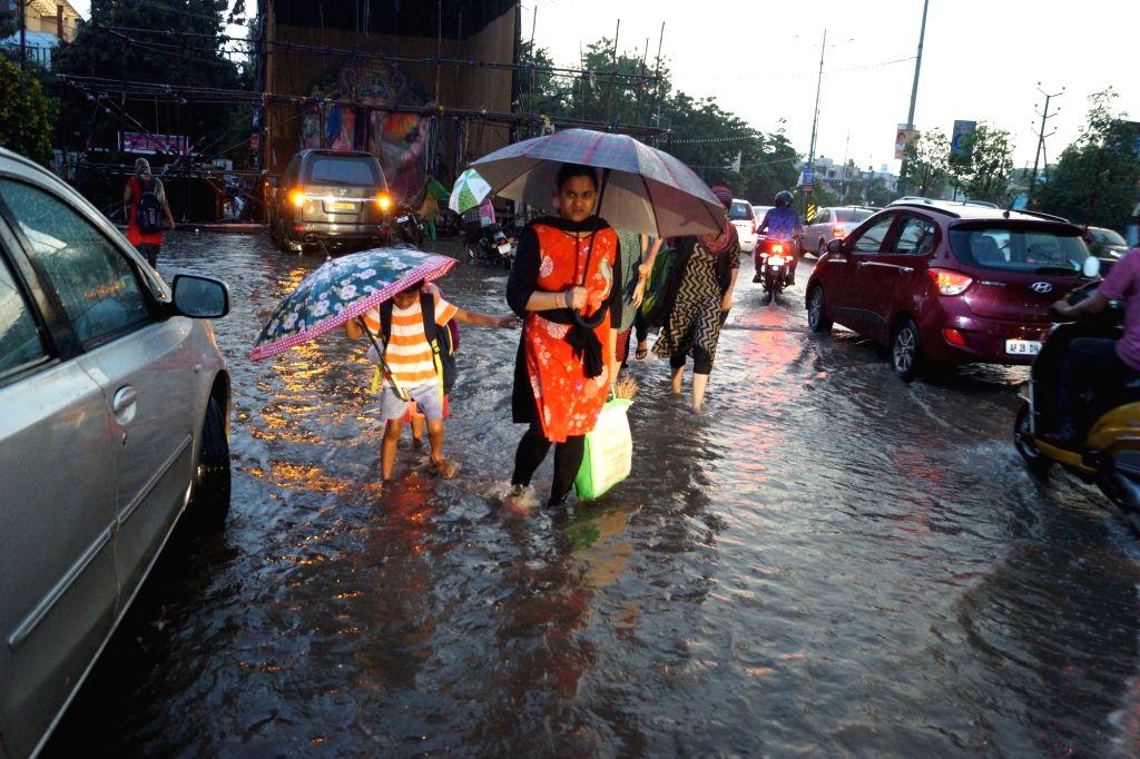 Heavy rains lash Hyderabad, on Sept 11, 2018.
