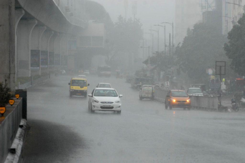 Heavy rains lash Hyderabad on Sept 17, 2018.