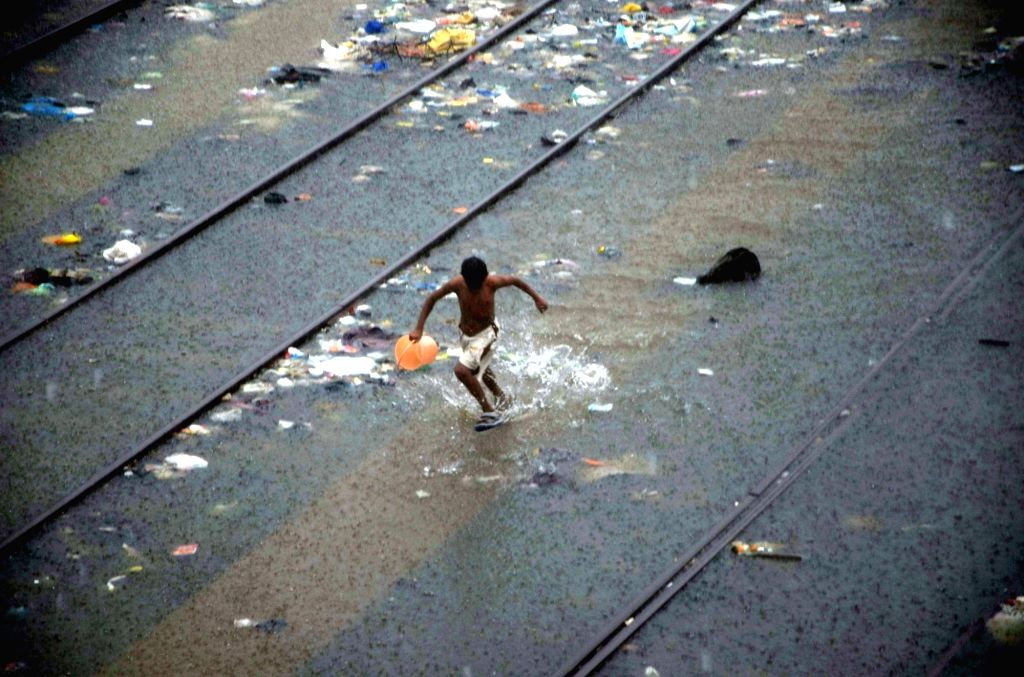 Heavy rains lash Mumbai on Aug 5, 2016. The downpour led to waterlogging in parts of south and central Mumbai as well as eastern and western suburbs, leading to major traffic snarls in the ...