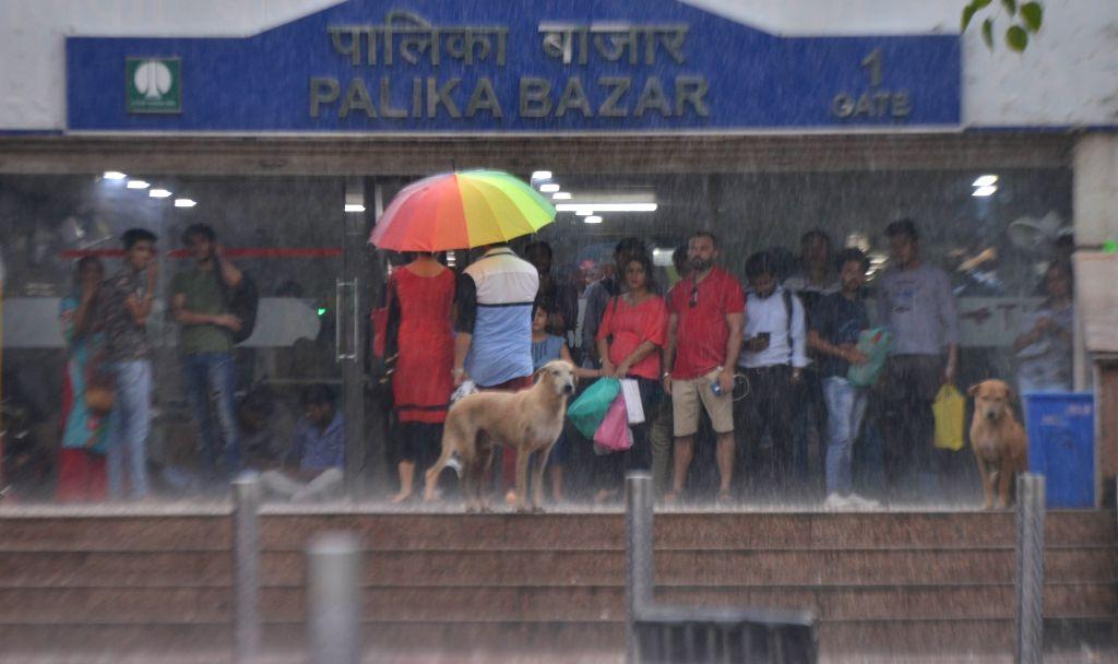 Heavy rains lash New Delhi, on July 13, 2018.