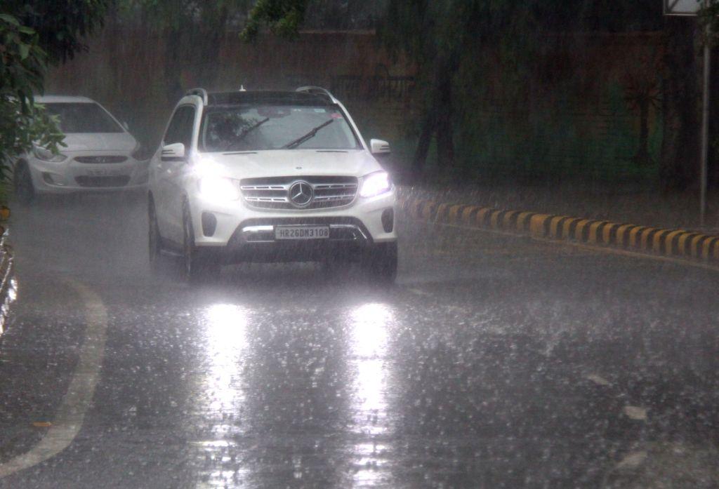 Heavy rains lashed New Delhi on Aug 13, 2019.