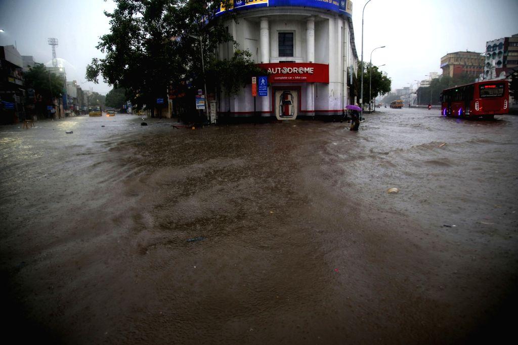 Heavy rains leave Chennai flooded, on Oct 29, 2020.