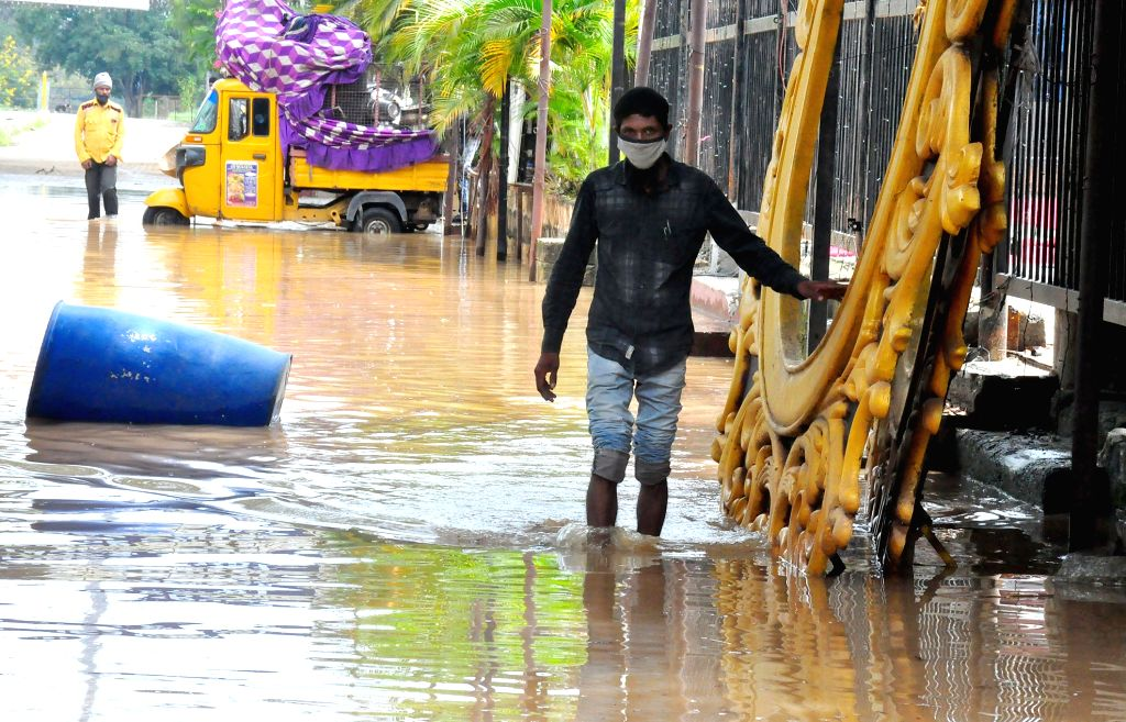 Heavy rains resulted in waterlogging in several parts of Bengaluru on Oct 21, 2020.