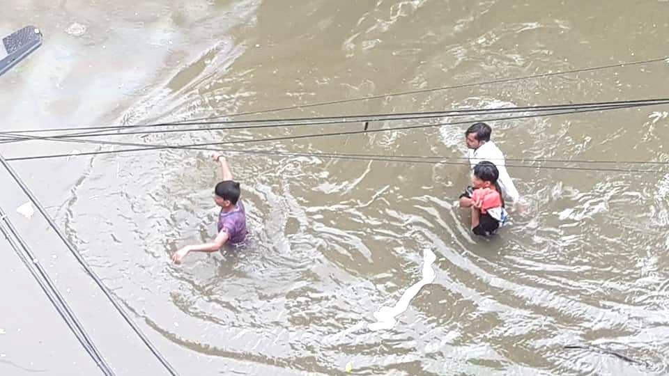 Heavy rains resulting in floods affected normal life in Patna, on Sep 28, 2019.