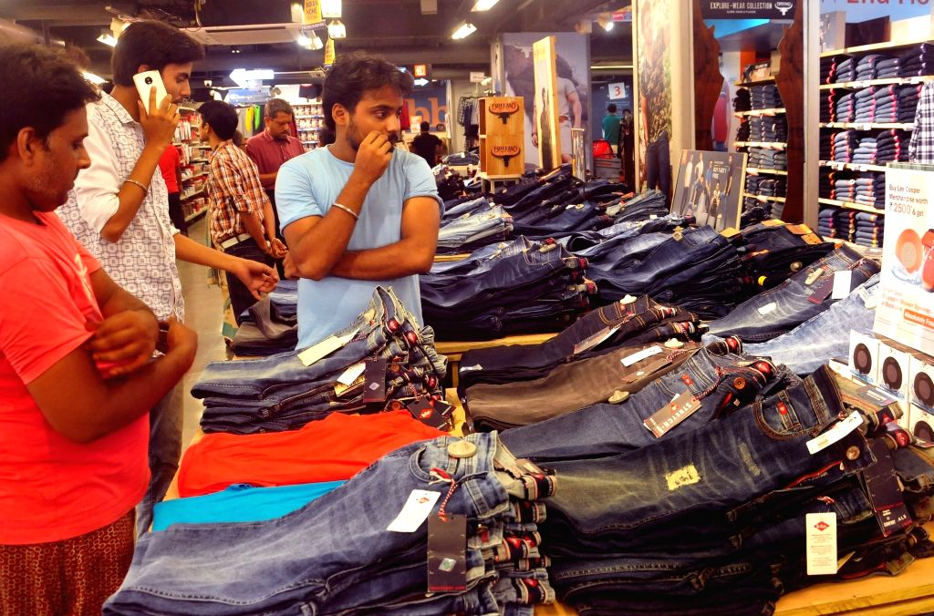 Heavy rush of shoppers at a garment shop after Goods and Services Tax (GST) roll out in Kolkata on July 1, 2017.