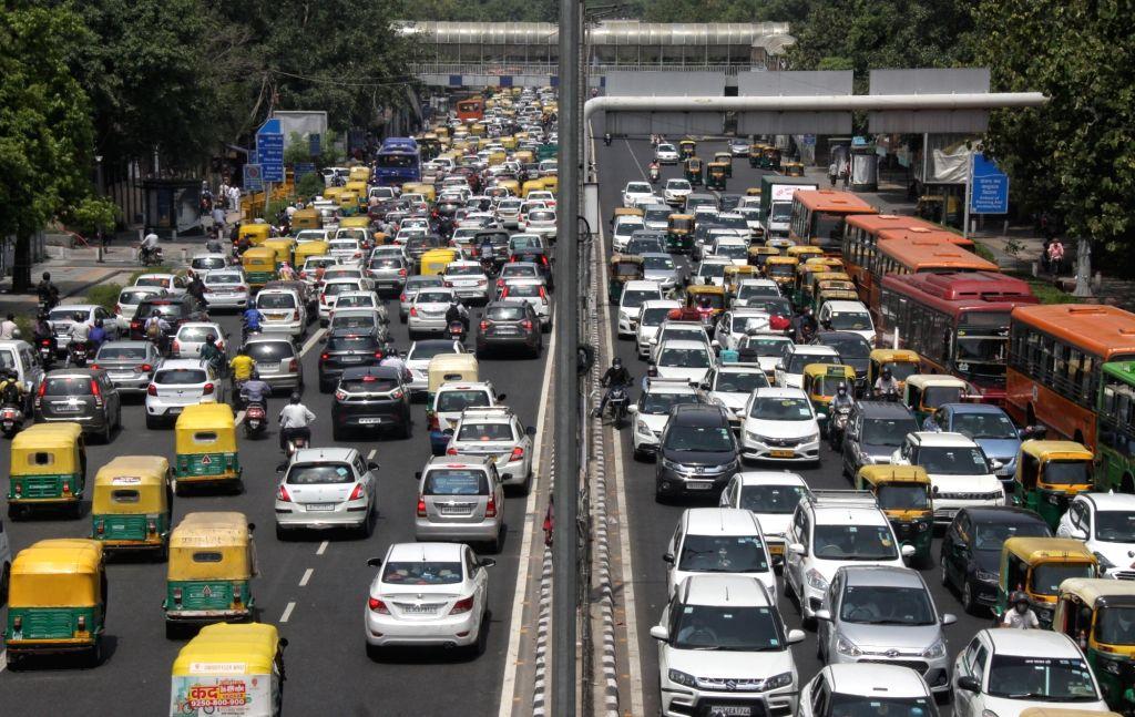 Heavy Traffic jam at ITO in New Delhi on Friday June 25, 2021.