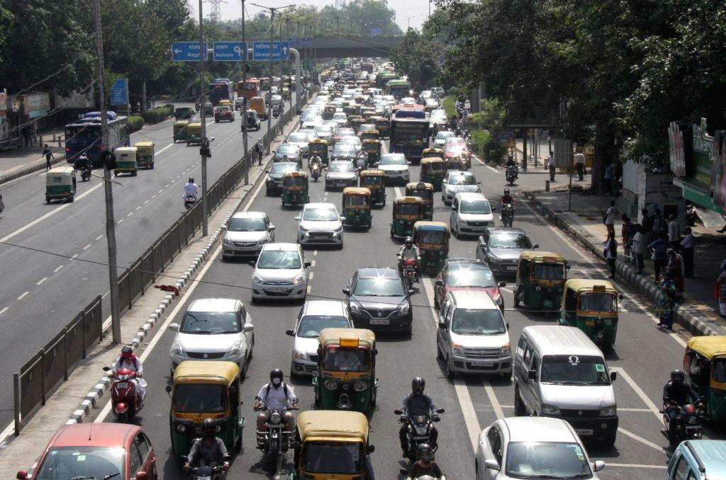 Heavy Traffic jam at ITO in New Delhi on Monday June 14, 2021