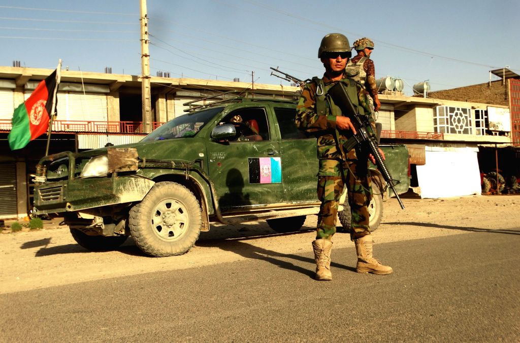HELMAND, July 24, 2016 - Afghan security forces take part in a military operation in Sangin district of southern Helmand province, Afghanistan, July 23, 2016. Some 53 militants have been killed ...