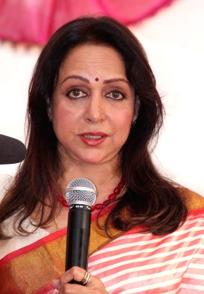 Hema Malini lauds UP CM Yogi Adityanath for Greater Noida film city project. (File Photo: IANS) - Hema Malini