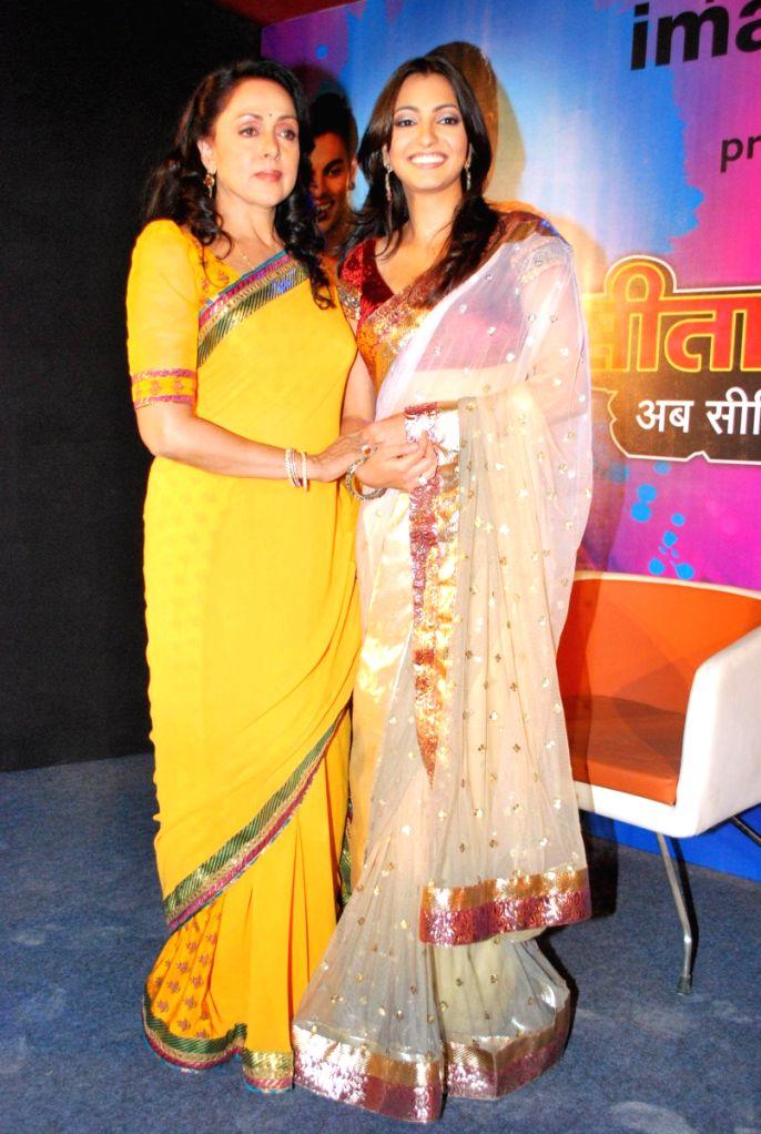 Hema Malini meets the cast of NDTV IMagine TV serial