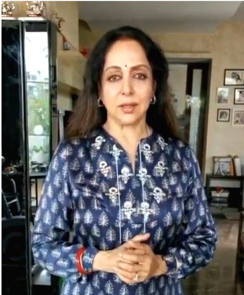 Hema Malini quashes rumours of ill health in video post. - Hema Malini