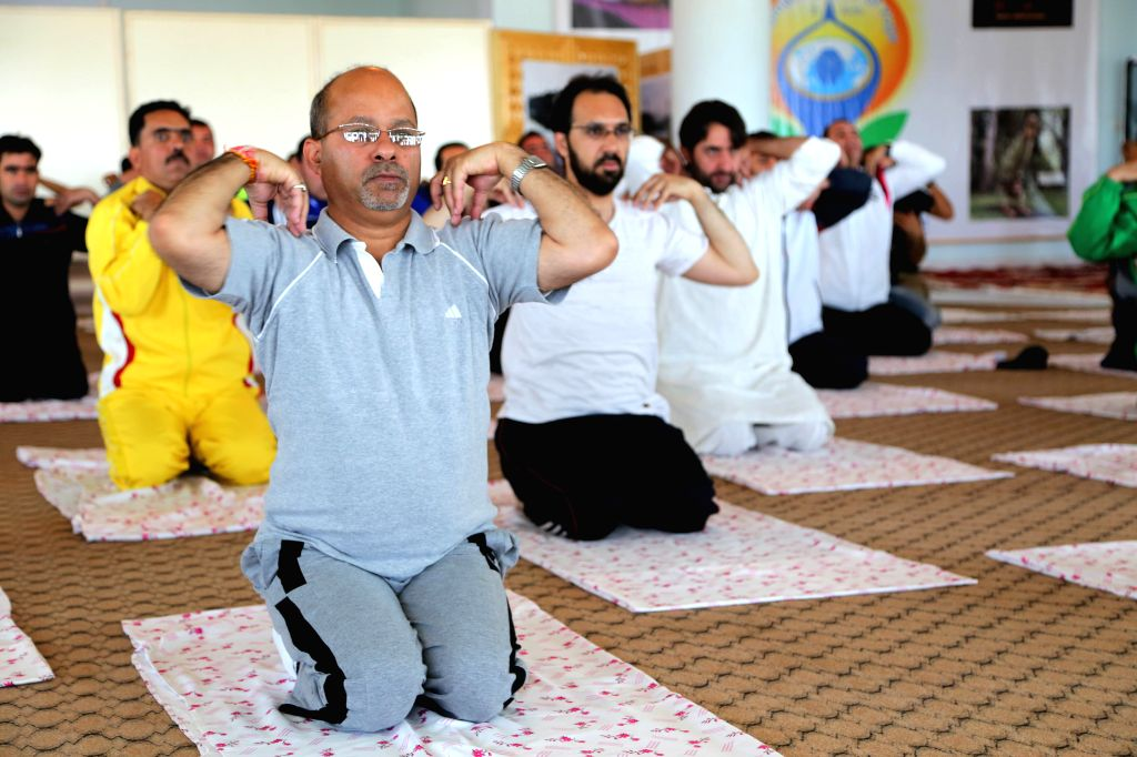 HERAT, June 25, 2016 - Afghans and foreigners practice yoga to celebrate the International Yoga Day at the Indian Consulate in Herat province, Afghanistan, June 24, 2016. On Dec. 11, 2014, the UN ...