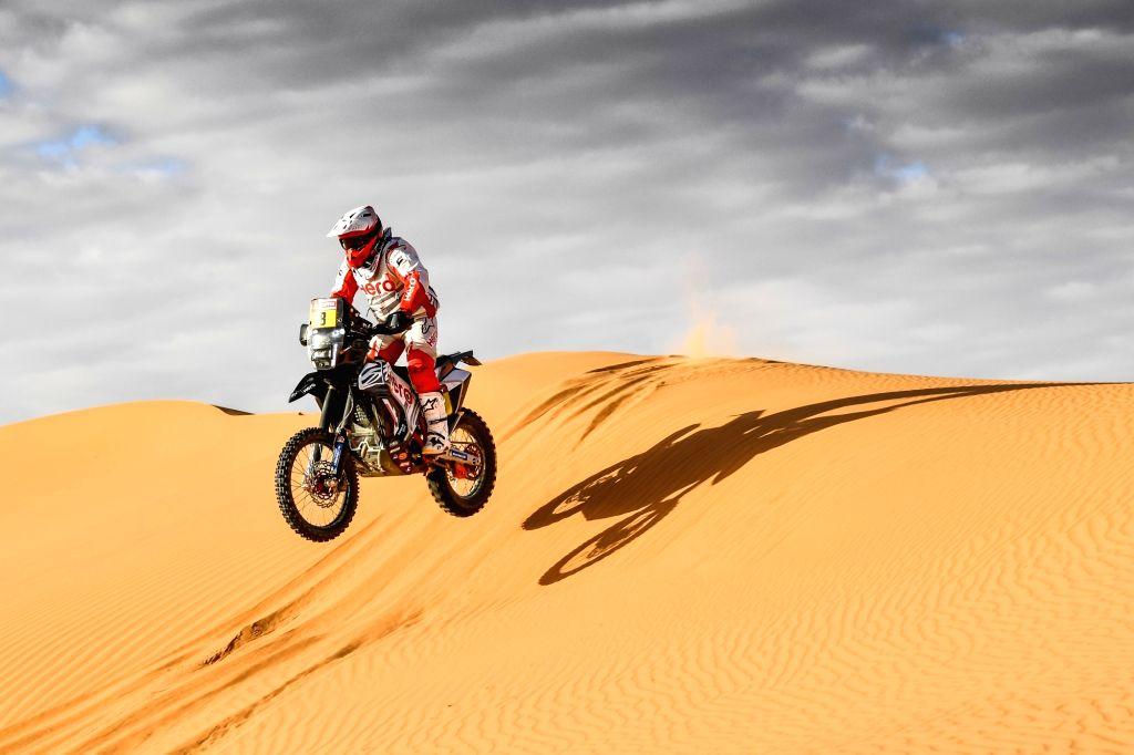 Hero MotoSports Team Rally Rider Paulo Goncalves.
