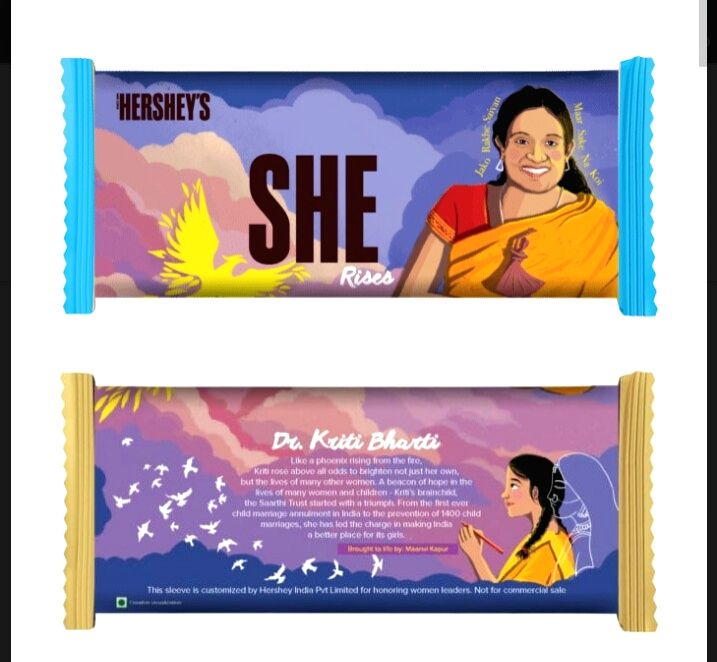 Hershey launches special edition of Chocolate in honour of Dr. Kriti Bharti
