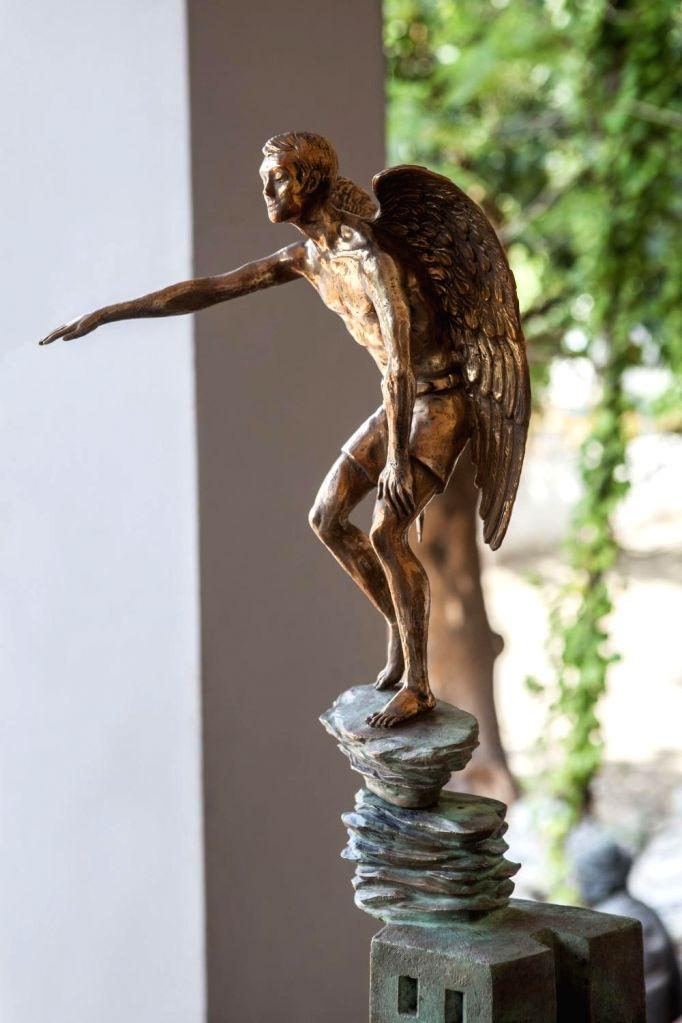 Hesitant attempt, Medium Bronze, Year 2018.(Photo Source: Vadehra Gallery)