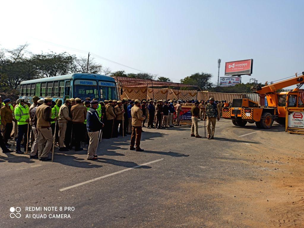High alert in Gurugram after violence in Delhi