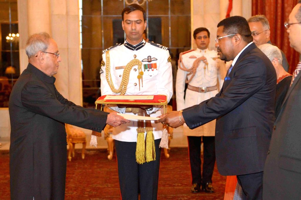High Commissioner-Designate of Republic of Mozambique Ermindo Augusto Ferreira presents his credentials to the President Pranab Mukherjee, at Rashtrapati Bhavan, in New Delhi on July 2, ... - Pranab Mukherjee