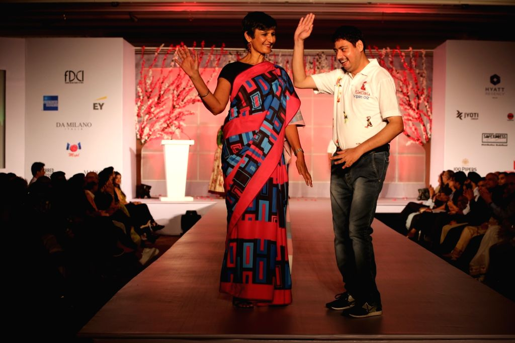 "High Commissioner of Australia to India, Harinder Sidhu at ""Unity in Diversity"" - FDCI's annual fashion show in New Delhi on Sept 16, 2018."