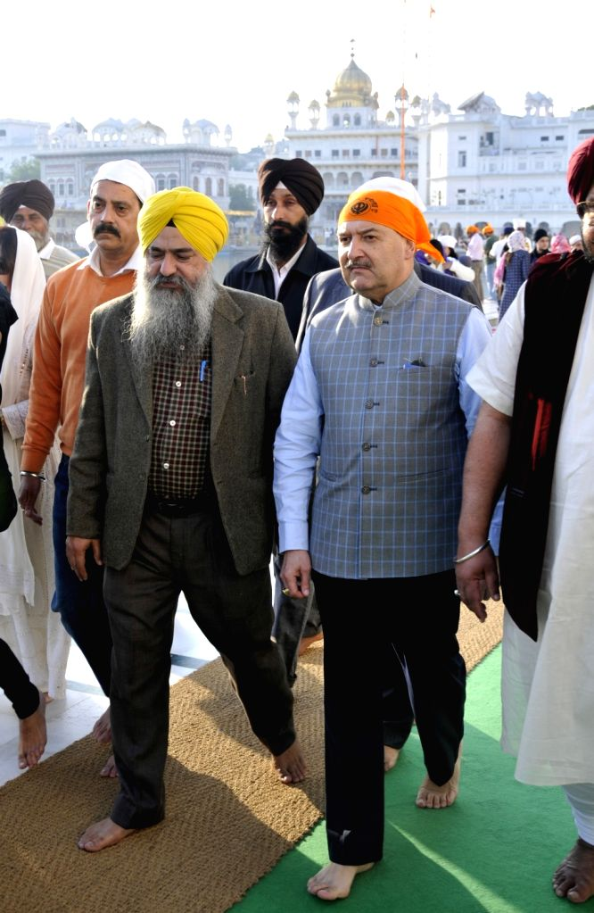 High Commissioner of Seychelles to India Philippe Le Gall during his visit to the Golden temple in Amritsar on Feb 8, 2018.