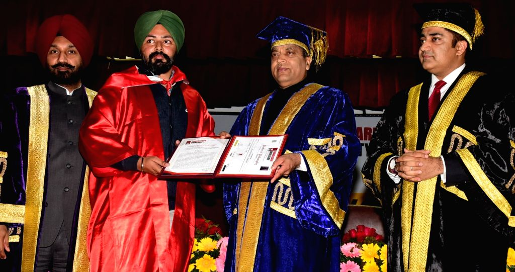 Himachal Chief Minister Jai Ram Thakur attends convocation function of Chandigarh University at Mohali in Punjab on Feb 07, 2020. - Jai Ram Thakur