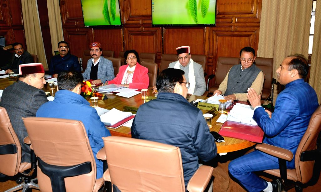 Himachal Chief Minister Jai Ram Thakur during a cabinet meeting in Shimla on March 1, 2019. - Jai Ram Thakur