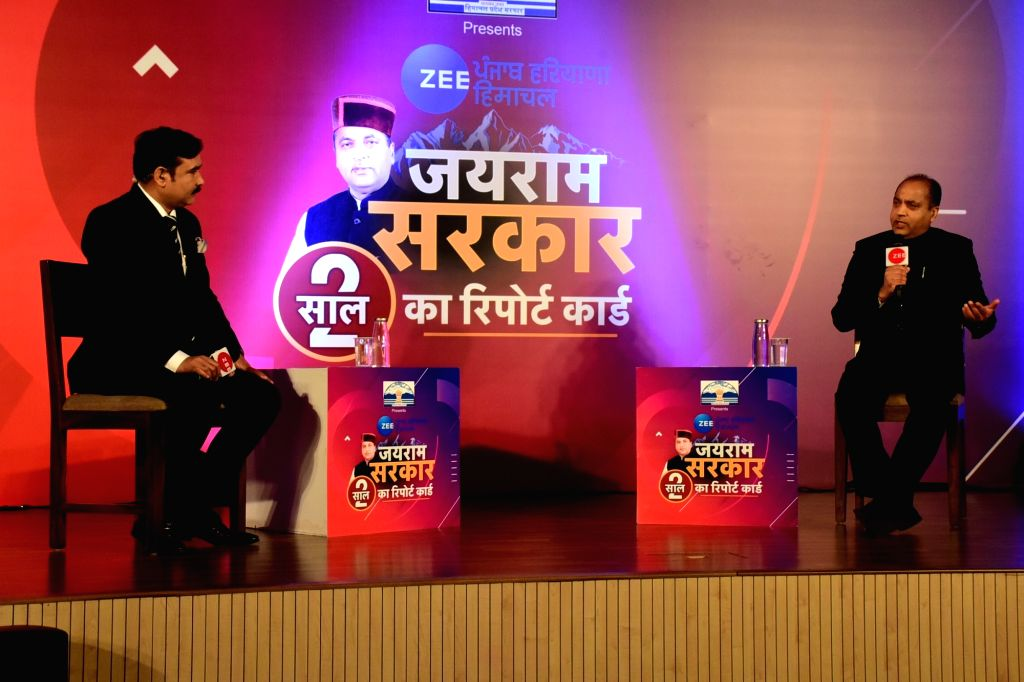 Himachal Chief Minister Jai Ram Thakur while participated in the interactive programme of an Electronic News Channel at Panchkula in Haryana on Feb 07, 2020. - Jai Ram Thakur