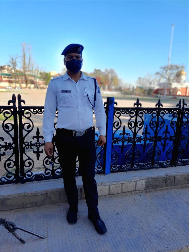 Himachal Police Constable Arjun Singh. (Photo: Sanjeev Kumar Singh Chauhan)