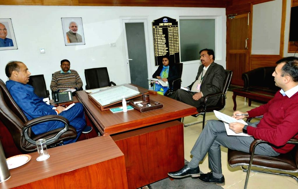 Himachal Pradesh Chief Minister Jai Ram Thakur presides over a meeting with the senior officers of the State Government to review the situation of supply of essential commodities in the fair ... - Jai Ram Thakur and Narendra Modi