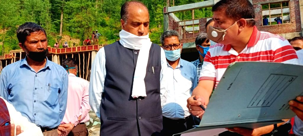 Himachal Pradesh Chief Minister Jai Ram Thakur during his visit to the Thunag and Bagsiad areas of Seraj Vidhan Sabha constituency of Mandi district to inspect various projects being ... - Jai Ram Thakur