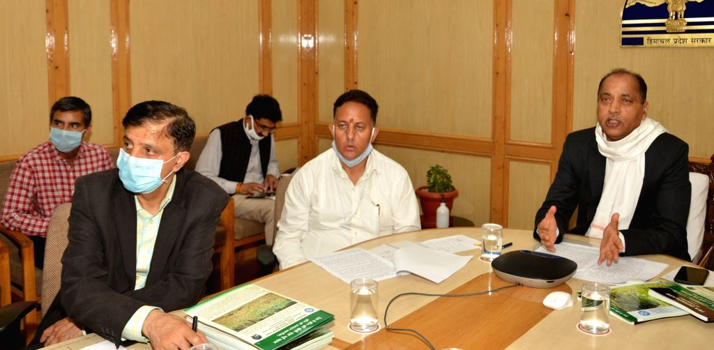 Himachal Pradesh Chief Minister Jai Ram Thakur addresses the Council of Scientific & Industrial Research- Institute of Himalayan Bio-Resource Technology (CSIR-IHBT), Palampur during its ... - Jai Ram Thakur