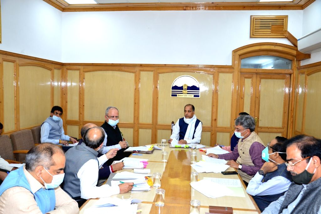 Himachal Pradesh Chief Minister Jai Ram Thakur presides over the 13th meeting of the State Single Window Clearance and Monitoring Authority (SSWC&MA) in Shimla on July 13, 2020. The CM ... - Jai Ram Thakur