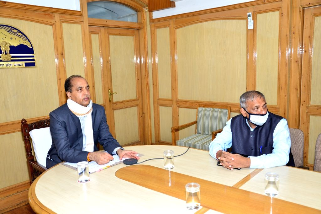 Himachal Pradesh Chief Minister Jai Ram Thakur inaugurates and lays foundation stones for development projects worth Rs 40 crore for Jhandutta area of Bilaspur district through video ... - Jai Ram Thakur