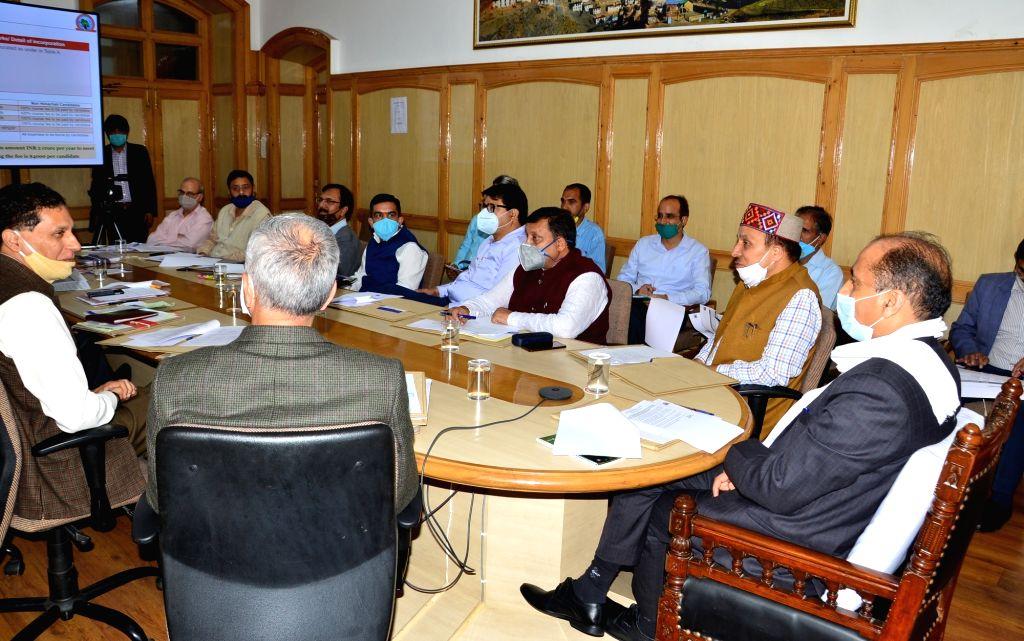Himachal Pradesh Chief Minister Jai Ram Thakur presides over the 9th meeting of the Board of Directors of the Himachal Pradesh Kaushal Vikas Nigam, in Shimla on Sep 1, 2020. - Jai Ram Thakur