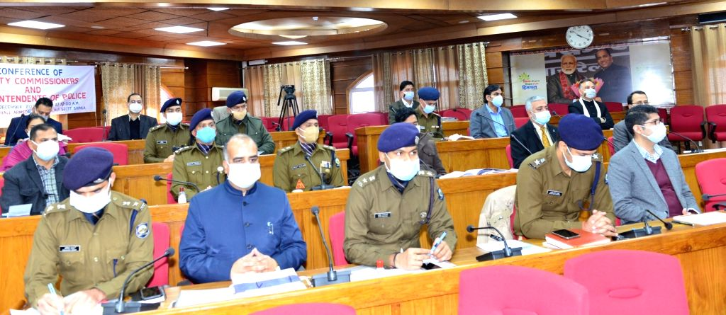 Himachal Pradesh Chief Minister Jai Ram Thakur presides over the Deputy Commissioners/Superintendents of Police Conference, in Shimla on Dec 2, 2020. - Jai Ram Thakur