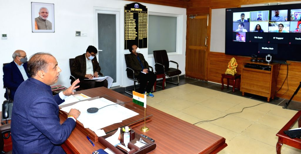 Himachal Pradesh Chief Minister Jai Ram Thakur addresses a webinar on National Education Policy organised by WEEXPO India 2020, a Karnataka based India???s largest virtual education show, ... - Jai Ram Thakur