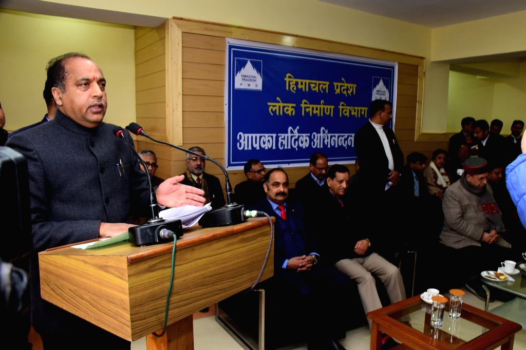 Himachal Pradesh Chief Minister Jai Ram Thakur addresses at the inauguration of Bharat Ratan Dr. Bhim Rao Ambedkar State Library at Kennedy Chowk in Shimla, on Feb 14, 2019. - Jai Ram Thakur