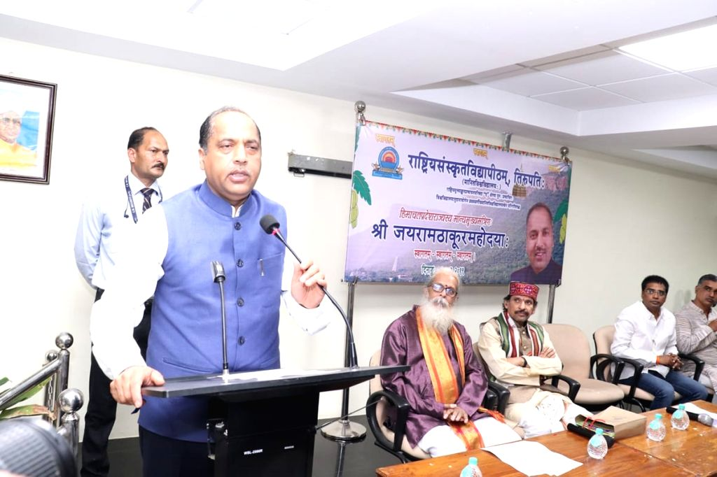 Himachal Pradesh Chief Minister Jai Ram Thakur addresses at a programme in Tirupati, Andhra Pradesh, on March 10, 2019. - Jai Ram Thakur