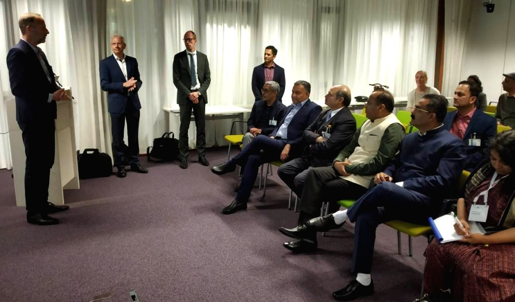 Himachal Pradesh Chief Minister Jai Ram Thakur during his visit to the Wageningen University to understand the work on post harvest research and agro-food robotics being carried out by ... - Jai Ram Thakur