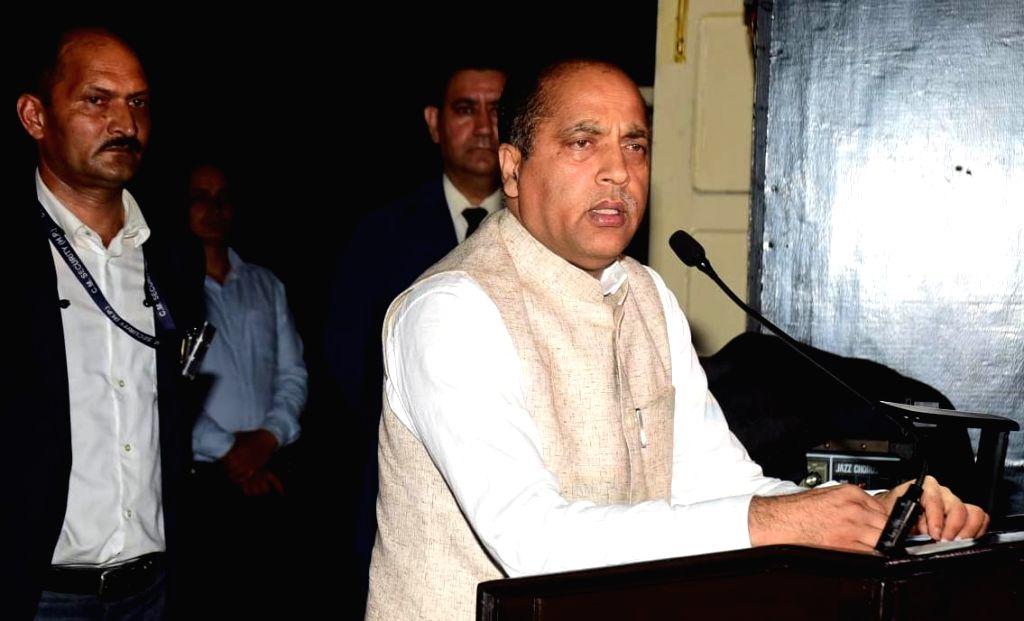 Himachal Pradesh Chief Minister Jai Ram Thakur addresses during a programme organised by the Army Training Command (ARTRAC) to mark the 20th anniversary of  'Kargil Vijay Diwas' in Shimla, on ... - Jai Ram Thakur