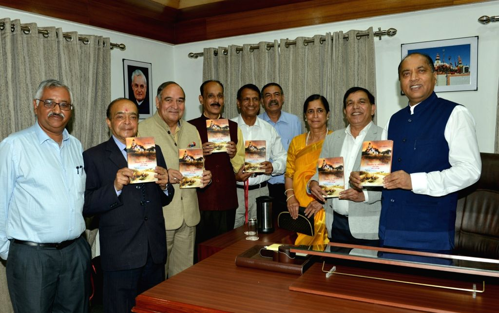 """Himachal Pradesh Chief Minister Jai Ram Thakur release the book titled """"Loyalty of the Lock and other short stories"""" authored by noted writer, former bureaucrat and Director ... - Jai Ram Thakur"""