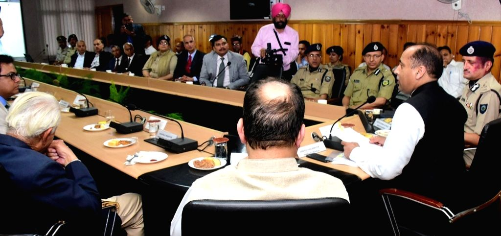Himachal Pradesh Chief Minister Jai Ram Thakur addresses at the inauguration of Central Police Canteen at Police Headquarters to facilitate the police personnel and retired employees of the ... - Jai Ram Thakur
