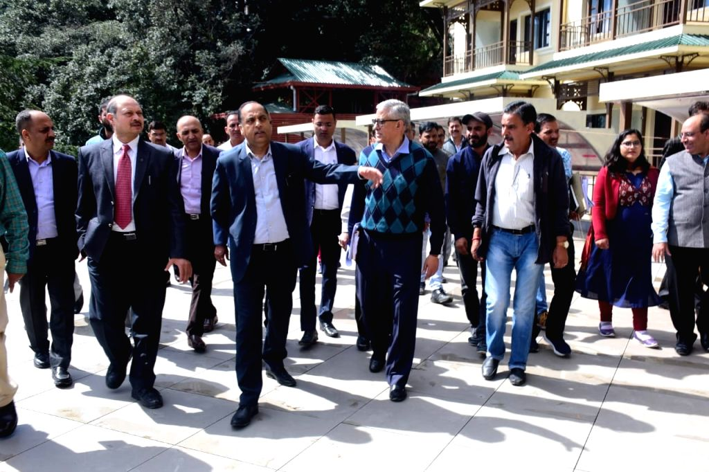 Himachal Pradesh Chief Minister Jai Ram Thakur during his visit to inspect the under construction circuit house at Willy Park, in Shimla on Sep 27, 2019. - Jai Ram Thakur